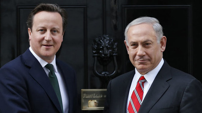 Britain's Prime Minister David Cameron (L) and his Israeli counterpart Benjamin Netanyahu (Reuters/Olivia Harris)