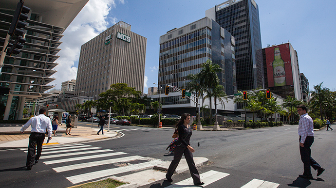 Munoz Rivera avenue in the Hato Rey Financial District in San Juan, Puerto Rico (Reuters / Ana Martinez)
