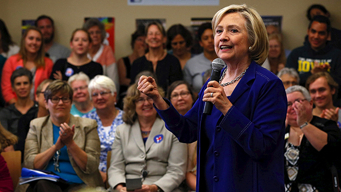 U.S. Democratic presidential candidate Hillary Clinton (Reuters / Jim Young)