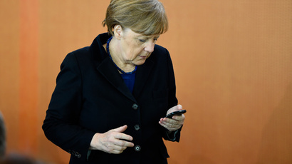 German Chancellor Angela Merkel (AFP Photo / Tobias Schwarz)