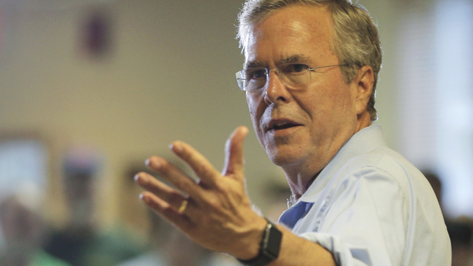 Out of touch: Presidential hopeful Bush tells overworked Americans 'work longer hours'
