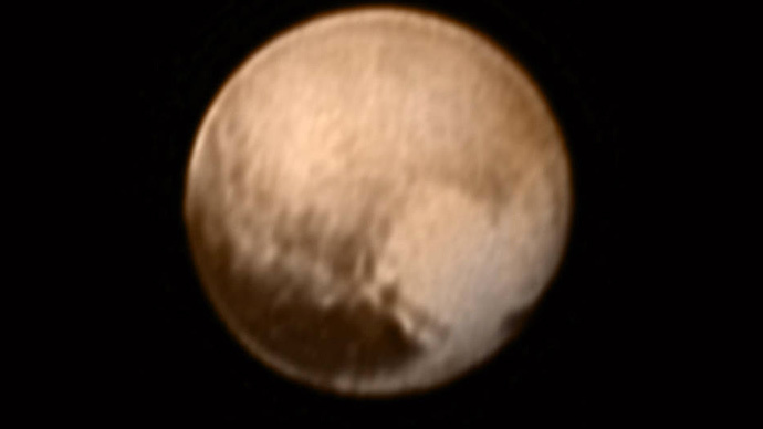 This image of Pluto from New Horizons' Long Range Reconnaissance Imager (LORRI)  (Credits: NASA-JHUAPL-SWRI)