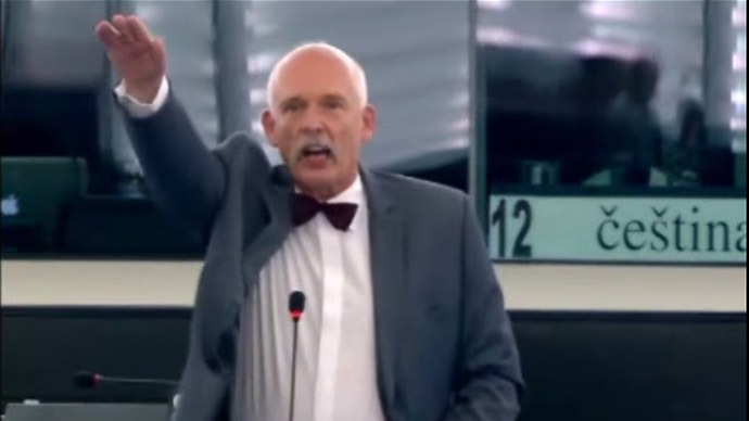 Poland 'ashamed and sorry' for MEP's Nazi salute to EU lawmakers
