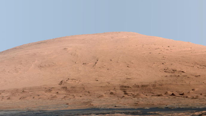 A portion of Mount Sharp, on Mars is pictured in this panorama made from a mosaic of images taken by the Mast Camera (Mastcam) on NASA's Mars rover Curiosity (Reuters/NASA)