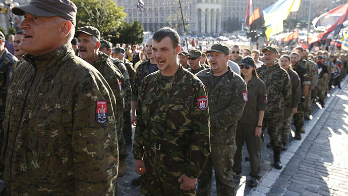 Ukraine's ultranationalist Right Sector in standoff with authorities