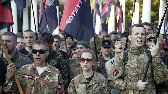 Show of power: Right Sector nationalists ready to send '19 battalions' to Kiev