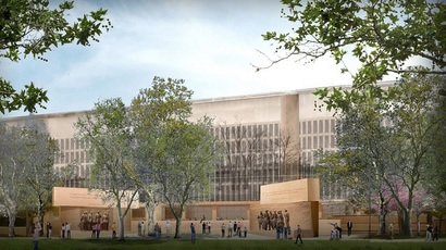 Proposed design of the memorial (Eisenhower Memorial Commission)