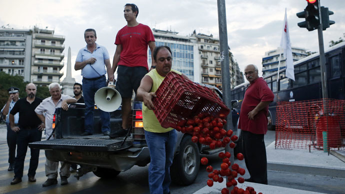 Leftists ask Putin to aid Greece by lifting embargo on food imports