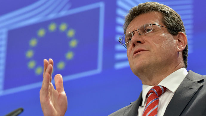 Vice-President of the European Commission in charge of Energy Union Maros Sefcovic (Reuters/Eric Vidal)