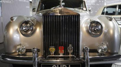 "Rolls-Royce Silver Cloud car from movie ""A View To A Kill"". REUTERS/ Suzanne Plunkett"