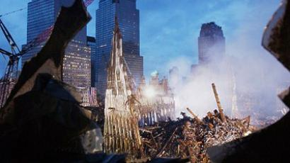 United States, New York : Early morning light illuminates the wreckage of the World Trade Center 25 September, 2001 in New York. Search and rescue efforts continue in the aftermath of the 11 September terrorist attack. (AFP Photo / Eric Feferberg)