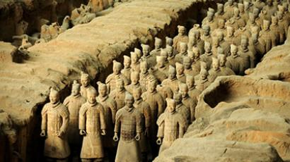 Buried Terracotta Warriors (AFP Photo / Eric Feferberg)