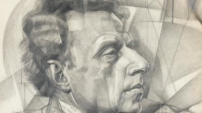 Fragment of the portrait of Vsevolod Meyerhold by Yury Annenkov (Image from sothebys.com)