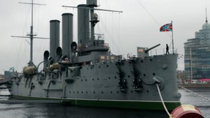 The Avrora cruiser in St. Petersburg (RIA Novosti/Alexey Danichev)