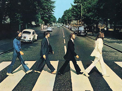 "The cover photo of ""Abbey Road' album"