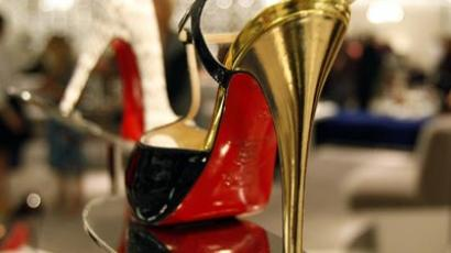 French designer Christian Louboutin's shoe (AFP Photo/Timothy A. Clary)
