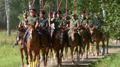 Cossacks heading to Paris (RIA Novosti / Sergey Pyatakov)