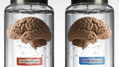 London-based ad-men launch a self-promo campaign placing their brains for sale