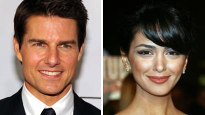 Tom Cruise and Nazanin Boniadi.(AFP Photo / Larry Busacca / Valerie Macon)