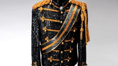 A custom jacket made for pop singer Michael Jackson is shown in this image released to Reuters in this February 17, 2009 file photo. (Reuters/Shaan Kokin/Julien's Auctions/Handout/Files)
