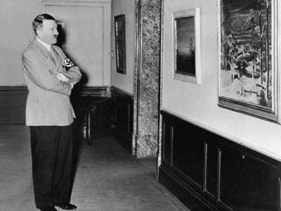 Adolf Hitler at an exhibition in Berlin (AFP Photo / SNEP)