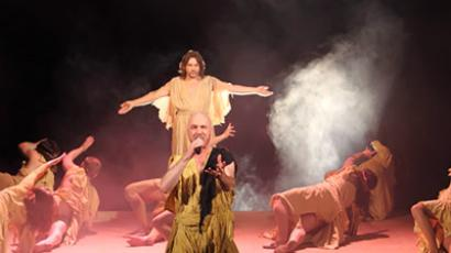Not the True Gospel: Jesus Christ Superstar tells the story of the Messiah from Judas' perspective (Image from http://rock-opera.ru)