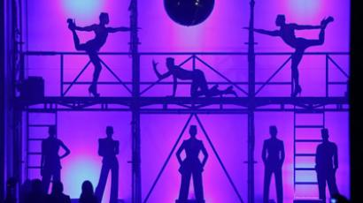 Dancers perform during the Jean Paul Gaultier Spring/Summer 2013 ready-to-wear collection show on September 29, 2012 in Paris. (AFP Photo/Pierre Verdy)