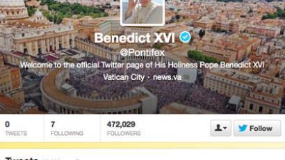 Screenshot from Twitter/@Pontifex
