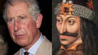 Prince Charles (AFP Photo/Tertius Pickard) and Vlad the Impaler (Image from Wikipedia.org)