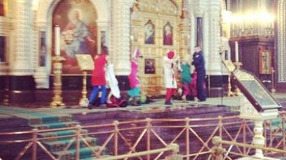 Pussy Riot in Russia's main cathedral