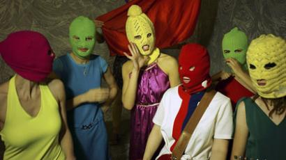 Seven members of Pussy Riot (Image from wikipedia.org)