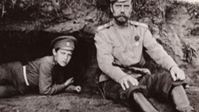 Tsar Nicholas II with his son Aleksey. Photo by Pierre Gilliard