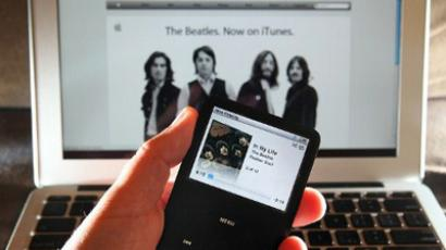 A Beatles song plays on an iPod in San Anselmo, California (Photo Illustration by Justin Sullivan/Getty Images/AFP)