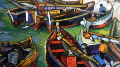 "South African artist Irma Stern's 1931 ""Fishing Boats"" was among the five paintings stolen from the Pretoria Art Museum Sunday morning (Image from bloomberg.com)"