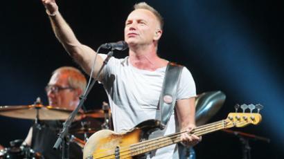Sting performs live at Moscow  (RIA Novosti / Ruslan Krivobok)