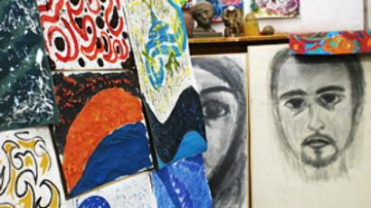 The work of visitors to the late Dr. Magdy Refaat's studio (photo by Mona Abouissa)