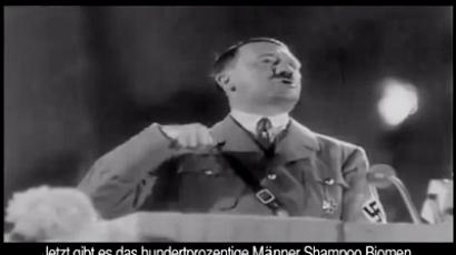 Screenshot from the comercial video on Turkish TV featuring Adolf Hitler