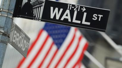 The Wall Street street sign in New York (AFP Photo/Stan Honda)