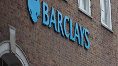 This picture taken on February 11, 2013 shows a branch of Barclays bank in central London. (AFP Photo/Justin Tallis)