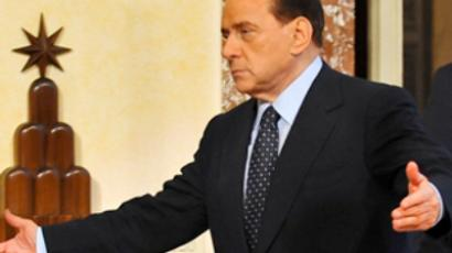 Berlusconi is bleeding: Italian PM remains in hospital