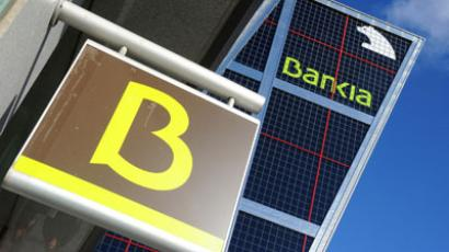Spanish bank Bankia's.(AFP Photo / Dominique Faget)