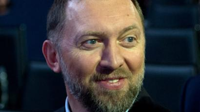 Oleg Deripaska, Chairman of Supervisory Board of Basic Element company, speaks during a session of the World Economic Forum Annual Meeting 2013 on January 23, 2013 at the Swiss resort of Davos. (AFP Photo/Johannes Eisele)