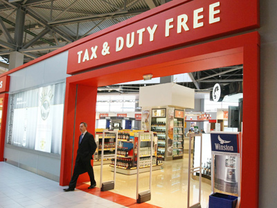 Duty free shops at the Sheremetyevo International Airport, terminal C (RIA Novosti / Aleksey Nikolskyi)
