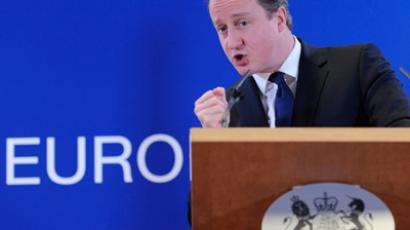 David Cameron speaks during a press conference at the EU Headquarters (AFP Photo / John Thys)