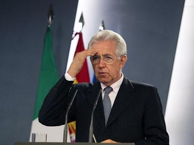 Italian Prime minister Mario Monti.(AFP Photo / Dani Pozo)