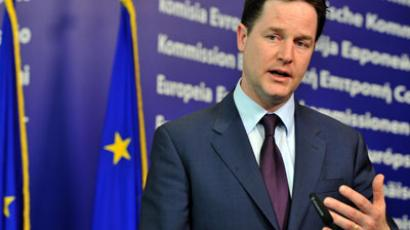 British Deputy Prime Minister Nick Clegg.(AFP Photo / Georges Gobet)