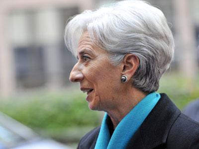 International Monetary Fund (IMF) Managing Director Christine Lagarde arrives on November 26, 2012.(AFP Photo / Georges Gobet)