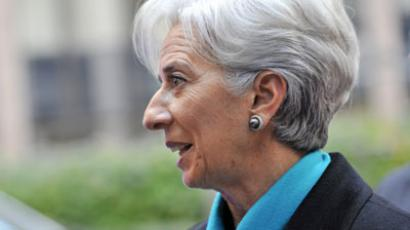 International Monetary Fund (IMF) Managing Director Christine Lagarde arrives on November 26, 2012.(AFP Photo / Georges Gobet)