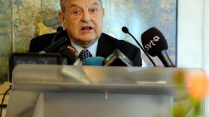 George Soros, Chairman of Soros Fund Management (AFP Photo / Vincenzo Pinto)