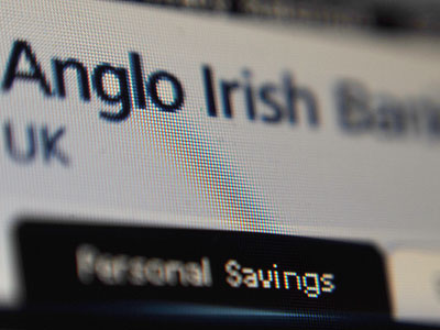Former Anglo-Irish bank chief arrested